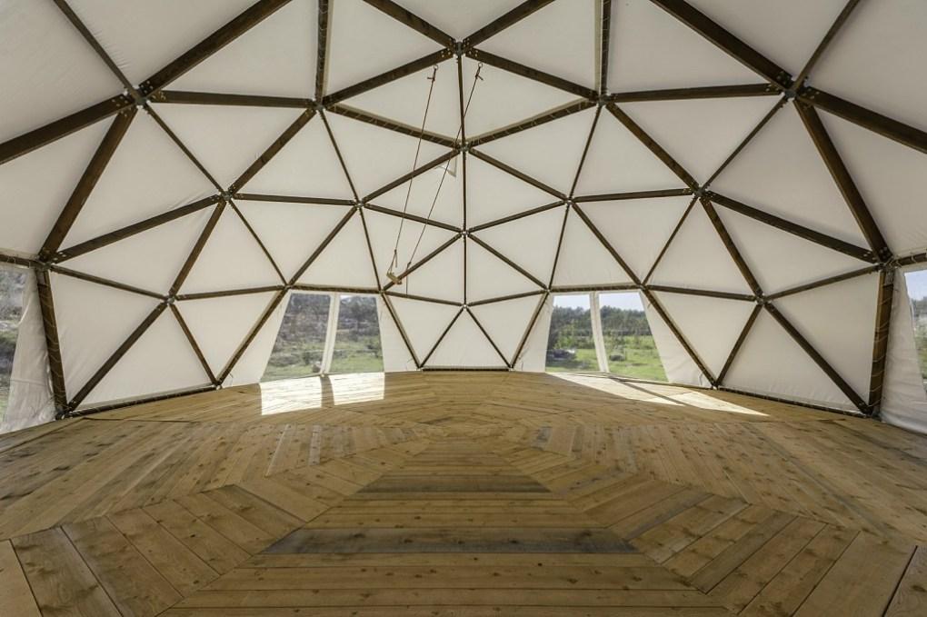 yoga kuppel island brac, yoga dome