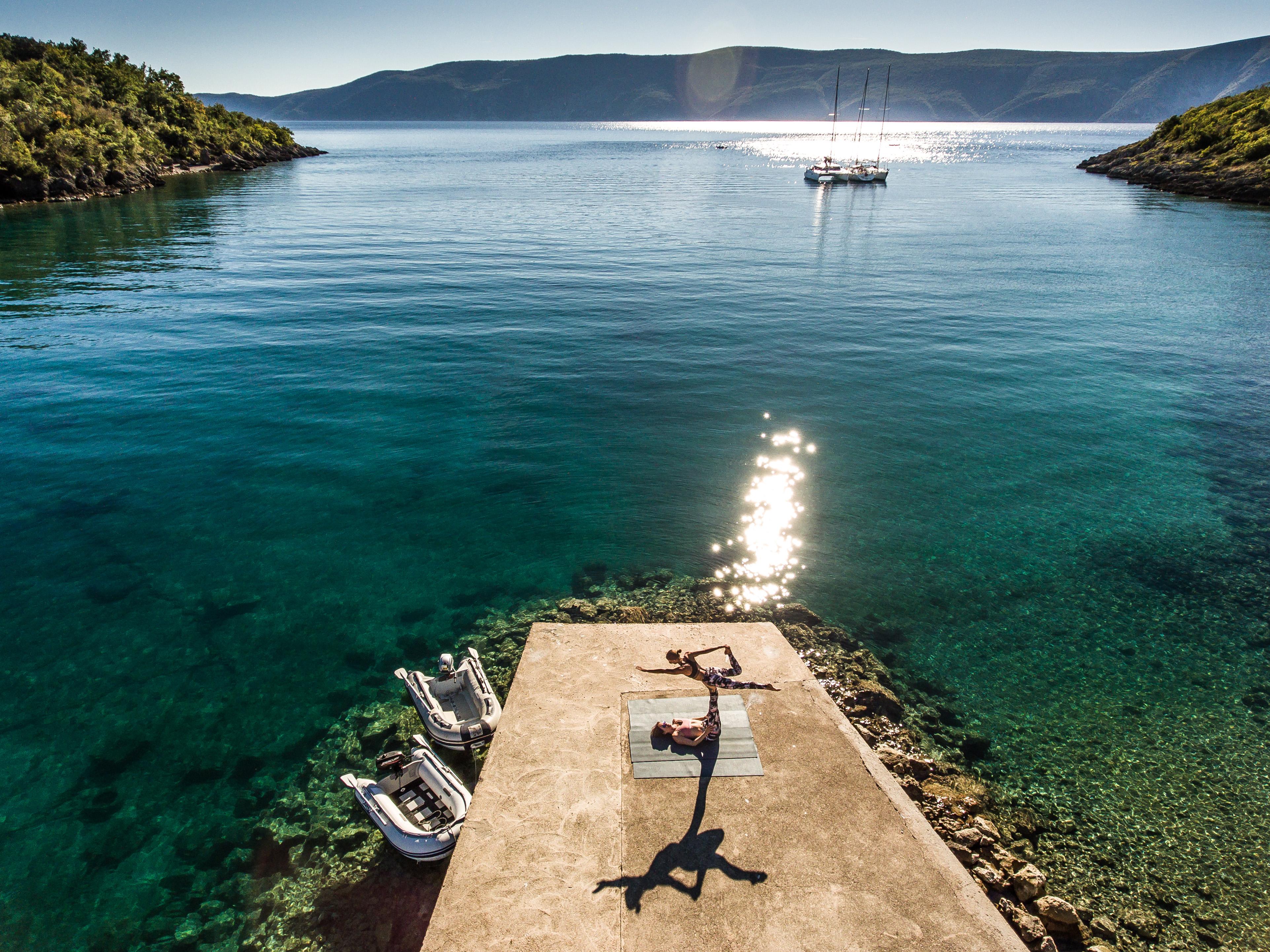 Yoga und Segeln Kroatien