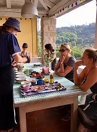 yoga and cooking class retreat